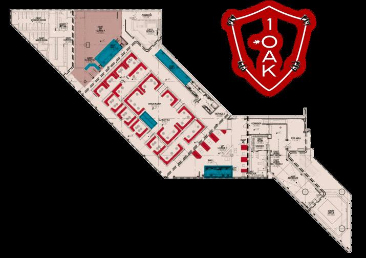 1oak nightclub floor plan