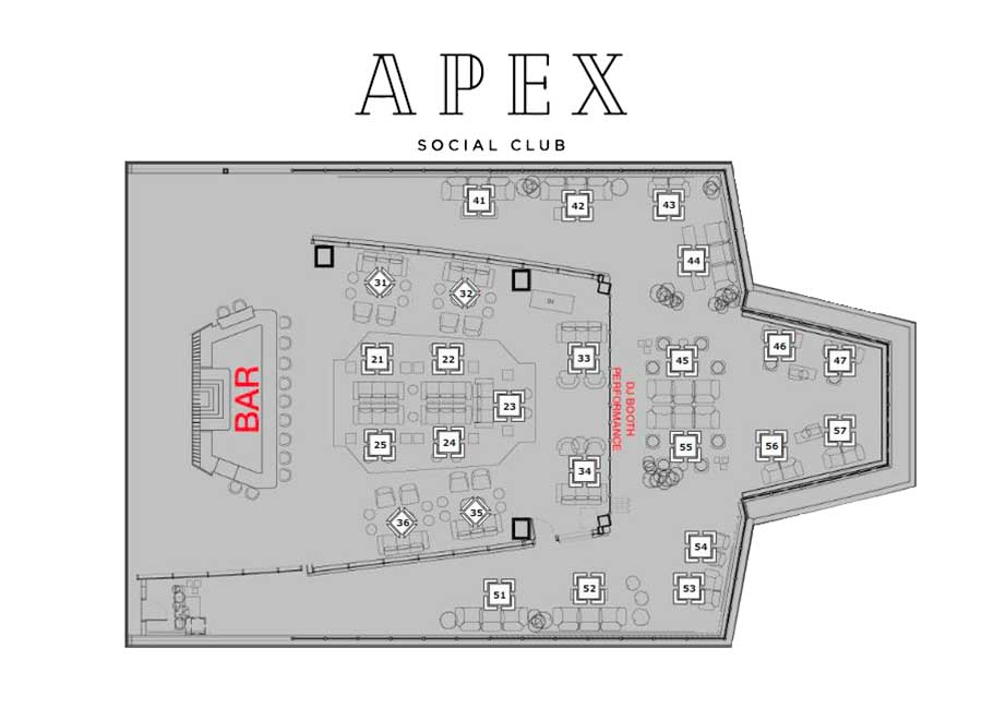 apex social club floor layout
