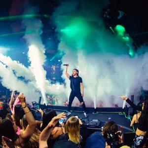 kaos nightclub skrillex on dj booth