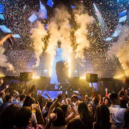 light nightclub dance floor