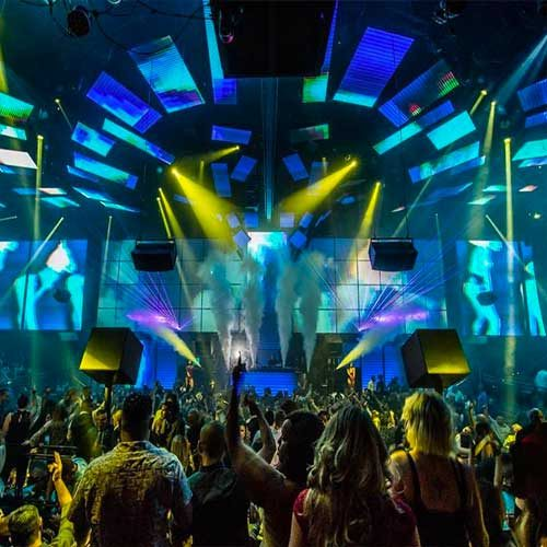 light nightclub dancefloor