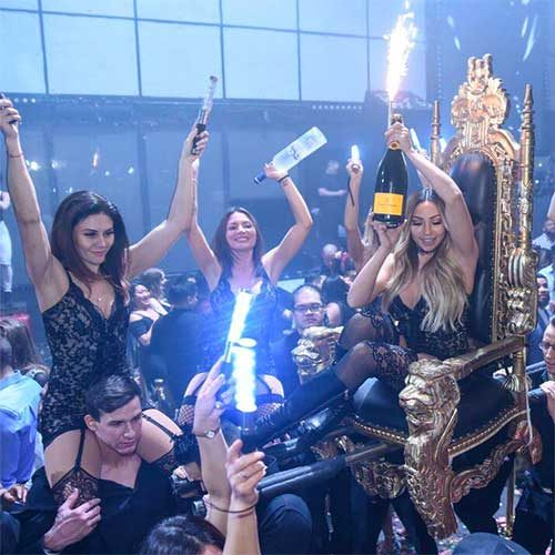 light nightclub cocktail waitress bottle service