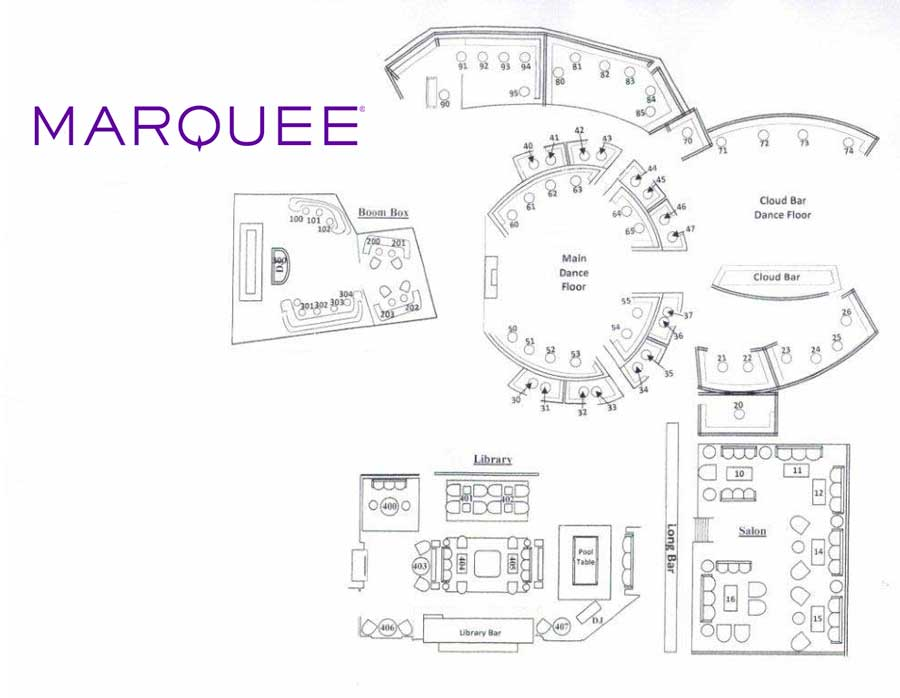 marquee nightclub floor layout