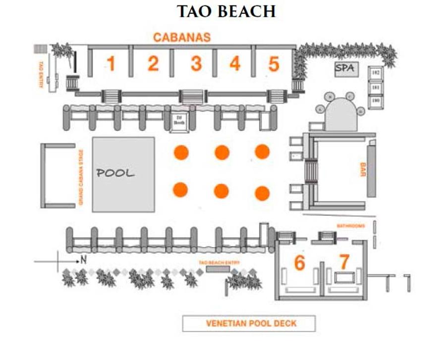 tao beachclub floor layout