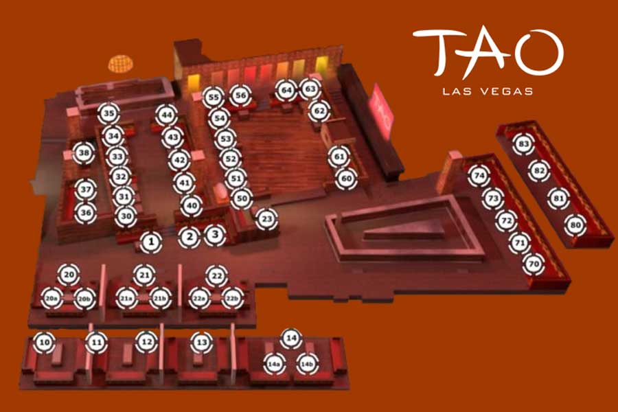 tao nightclub floor layout